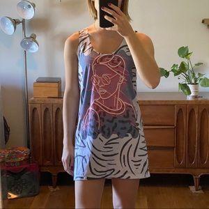 Neon Tank Top Dress